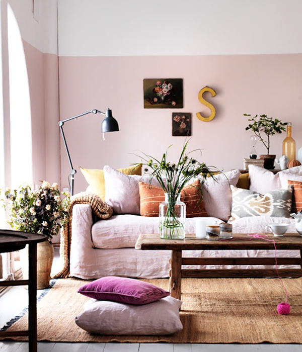 Pink Living Room / Photo By Clive Tompsett Photography For Sköna Hem / Oh  So Beautiful Part 69
