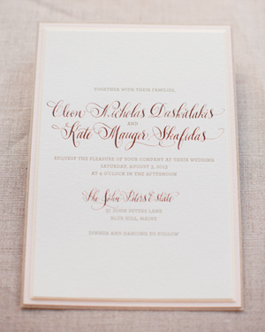 ... Romantic Rose Gold Wedding Invitations Gus And Ruby