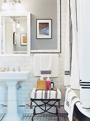 Oh So Beautiful Paper: Small Bathroom Renovation Inspiration