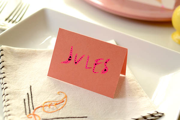DIY Tutorial: Wedding Reception Table Numbers by Antiquaria for Oh So Beautiful Paper