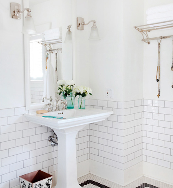 Oh So Beautiful Paper Small Bathroom Renovation Inspiration Riesco Lapres Via Desire To
