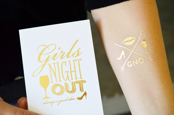 Wiley Valentine Gold Foil Temporary Tattoo Greeting Cards2 Quick Pick: Wiley Valentine TatCards