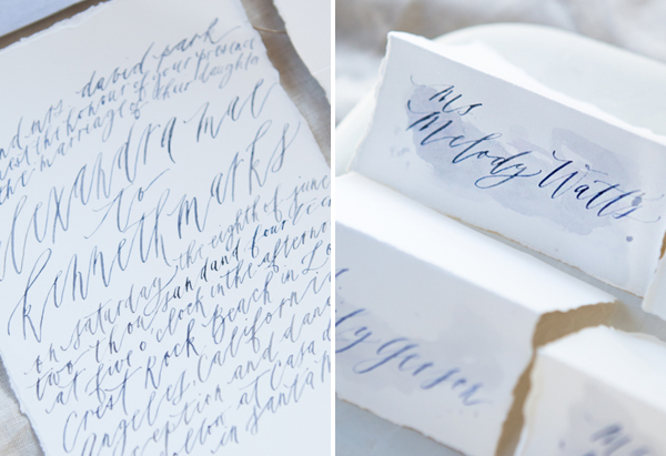 Modern Wedding Calligraphy From Written Word Calligraphy