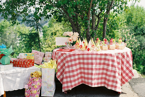 strawberry first birthday party