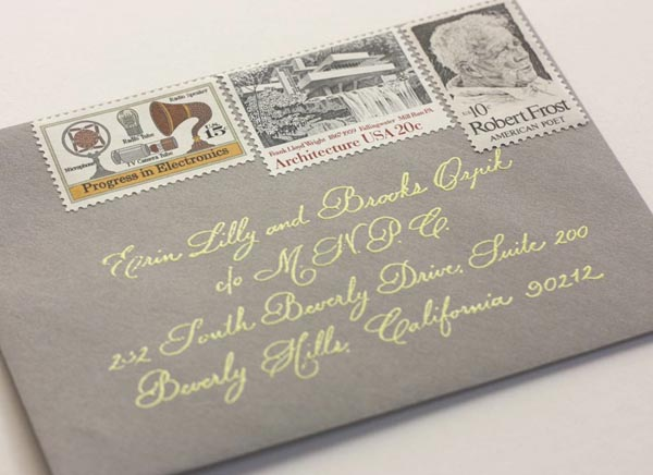 where to find vintage stamps, Wedding invitations