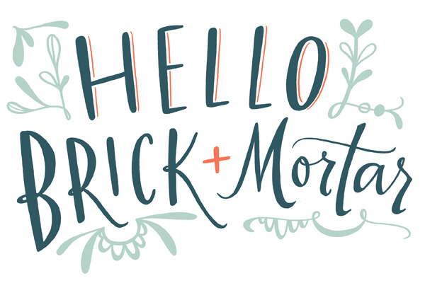 Hello Brick + Mortar by Emily McDowell Illustration for Oh So Beautiful Paper