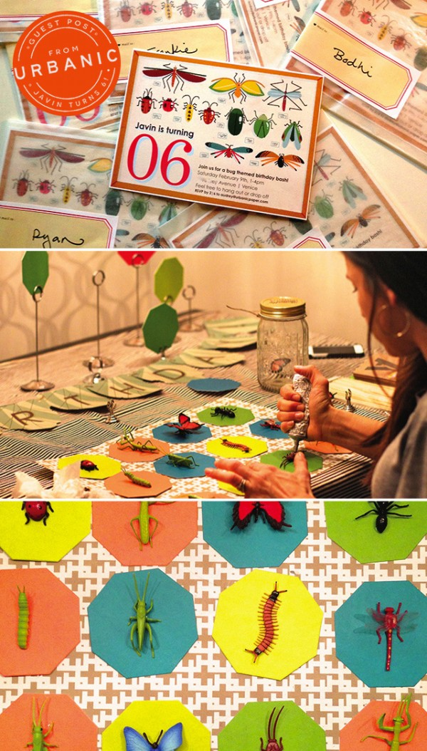 Bug Theme Kids Birthday Party by Urbanic via Oh So Beautiful Paper