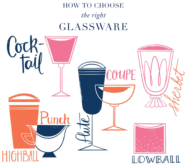 How to Choose Cocktail Glassware by Oh So Beautiful Paper