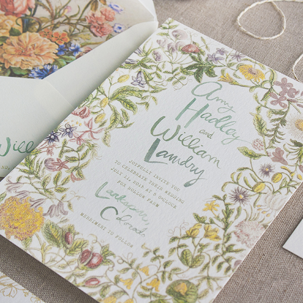 Bohemian-Botanical-Hand-Lettered-Wedding-Invitations-Lucky-Luxe-Couture-Correspondence-OSBP
