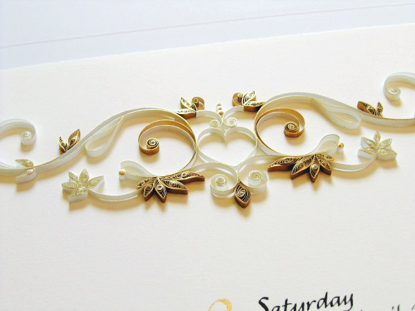 Gold Quilled Wedding Certificate Ann Martin OSBP7