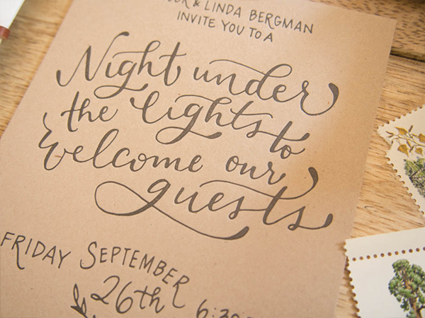 Rustic Hand Lettered Wedding Invitations by Bright Room Studio / Oh So Beautiful Paper