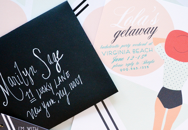 Lolas Bachelorette Weekend Getaway Invitations