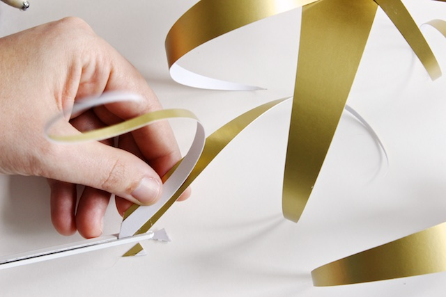 DIY Gold Paper Air Plants by Mandy Pellegrin for Oh So Beautiful Paper