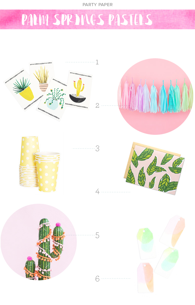 Party Paper: Palm Springs Pastels