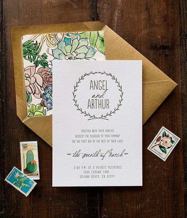 Angel Arthurs Spring Floral Wedding Invitations