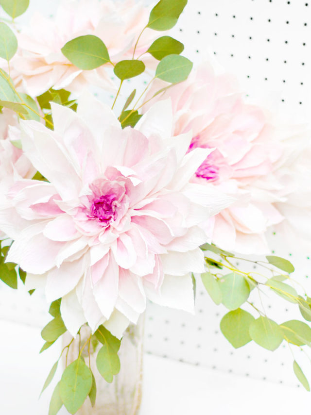Fresh Cut Paper Flowers: Cafe Au Lait Dahlia by Appetite Paper for OSBP