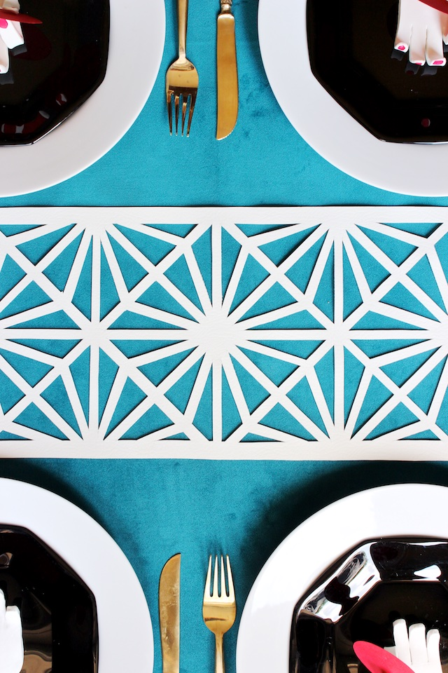 DIY Midcentury Modern Table Runner by Mandy Pellegrin for Oh So Beautiful Paper