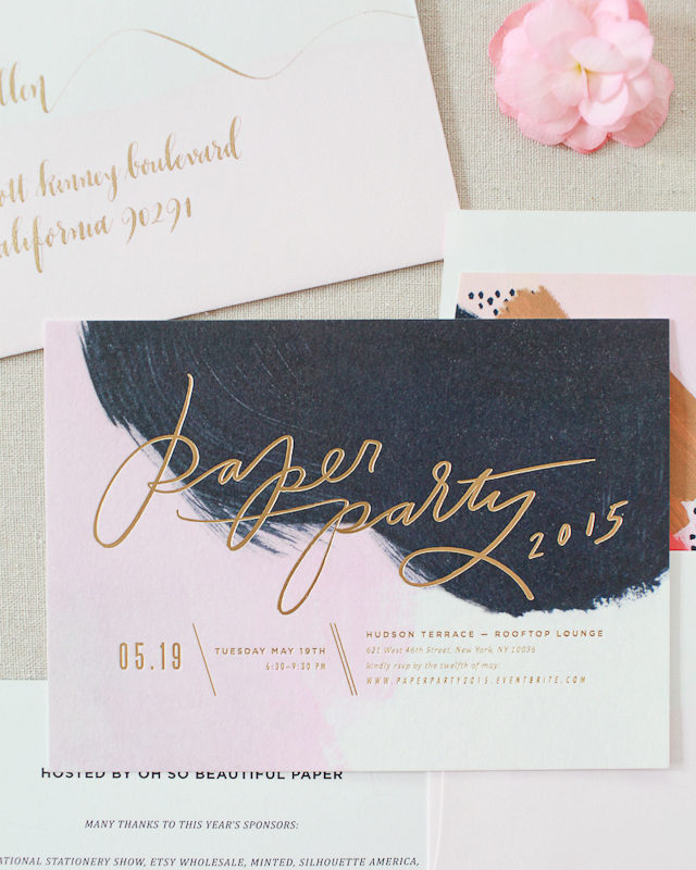 paper party 2015 invitations