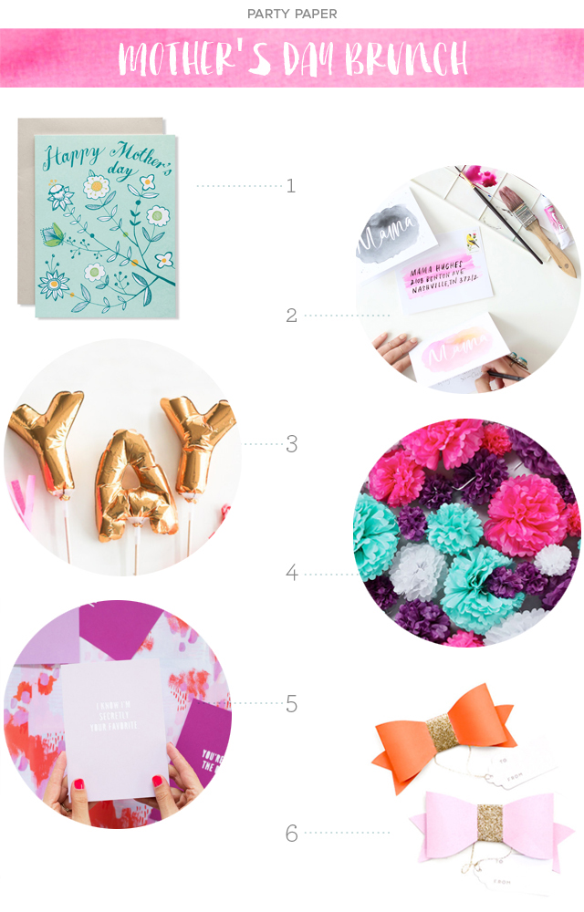 Party Paper: Mother's Day Brunch via Oh So Beautiful Paper