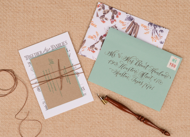 DIY Southwestern Cactus Wedding Invitations by Antiquaria for Oh So Beautiful Paper