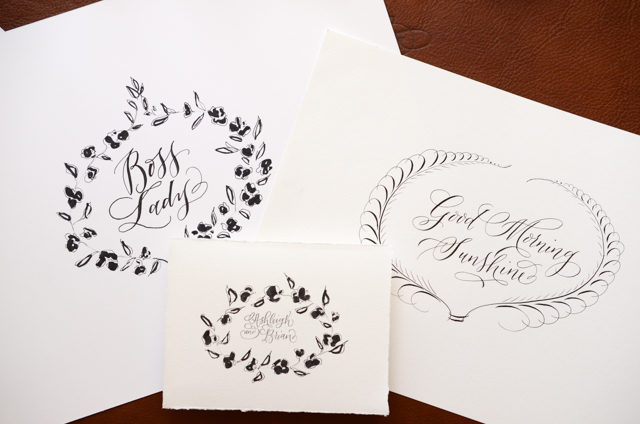 How to Create Calligraphy and Floral Frames for Wedding Invitations and Art Prints / Antiquaria for Oh So Beautiful Paper