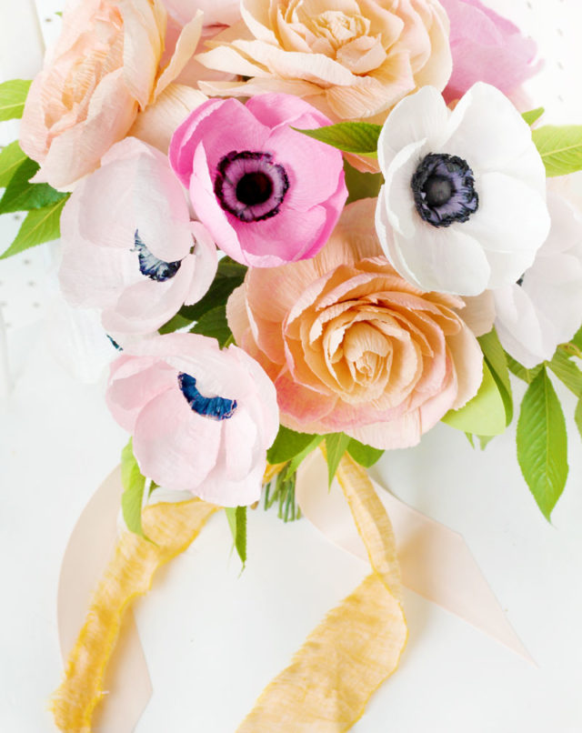 Paper Flower Wedding Bouquet / Appetite Paper for Oh So Beautiful Paper