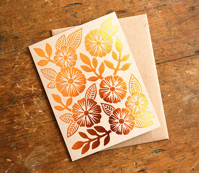 Katharine Watson Copper Foil Cards / Oh So Beautiful Paper