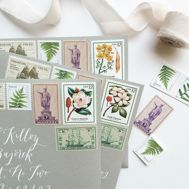 La Happy Envelope and Vintage Stamps / Oh So Beautiful Paper