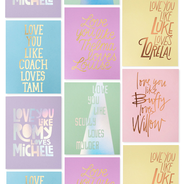 The Good Twin Pop Culture Couples Foil Cards / Oh So Beautiful Paper