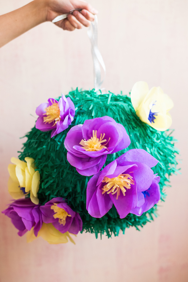 DIY Tissue Paper Flower Piñata / BerinMade for Oh So Beautiful Paper