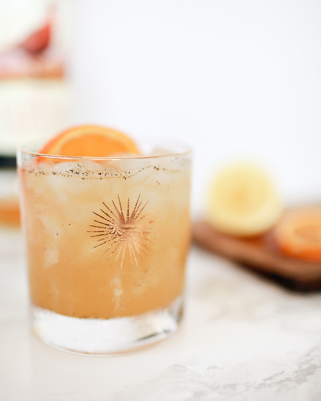 Orange-Vanilla Bean Scotch Smash Cocktail Recipe / Liquorary for Oh So Beautiful Paper