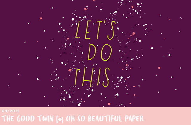 September Wallpaper / The Good Twin for Oh So Beautiful Paper