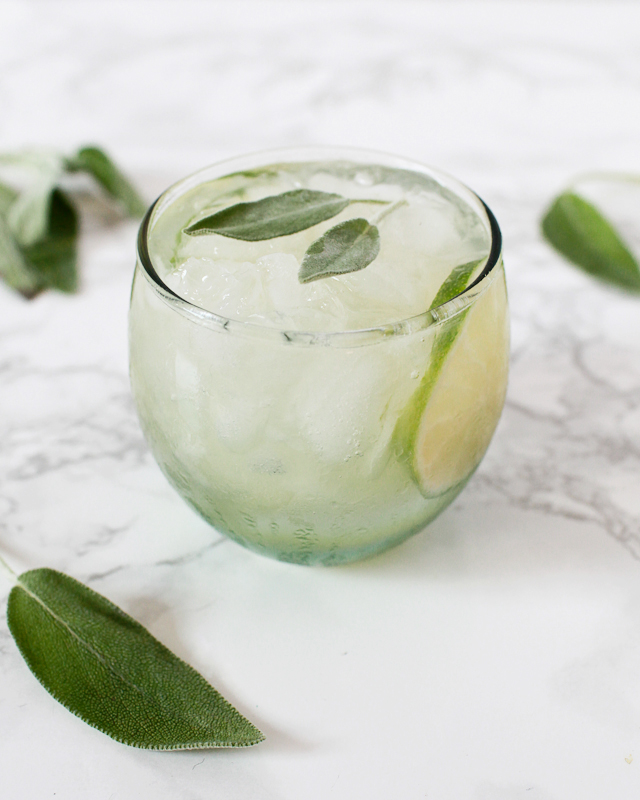 Tequila Lime Sage Smash Cocktail Recipe / Liquorary for Oh So Beautiful Paper