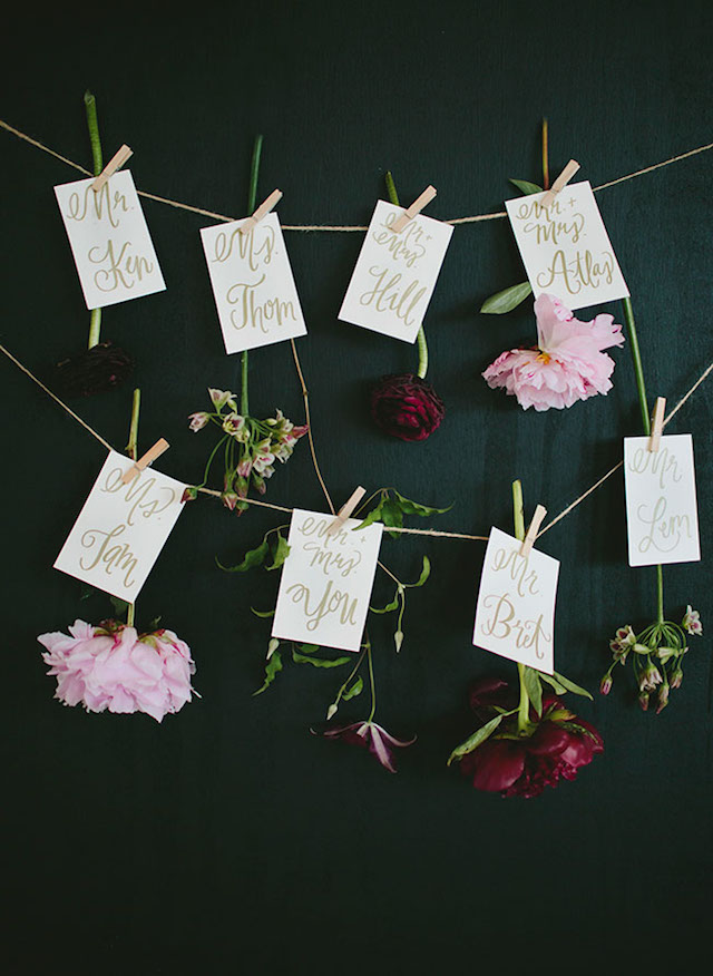 Wedding Stationery Inspiration: Nature-Inspired Escort Cards / Oh So Beautiful Paper
