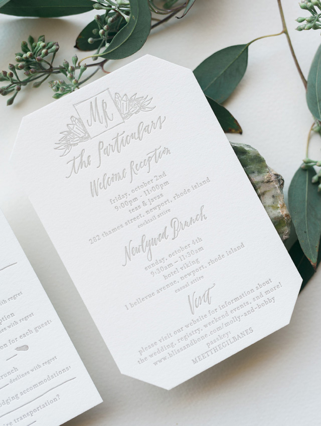 Black Tie Garden Party Calligraphy Wedding Invitations – Garden Party Wedding Invitations