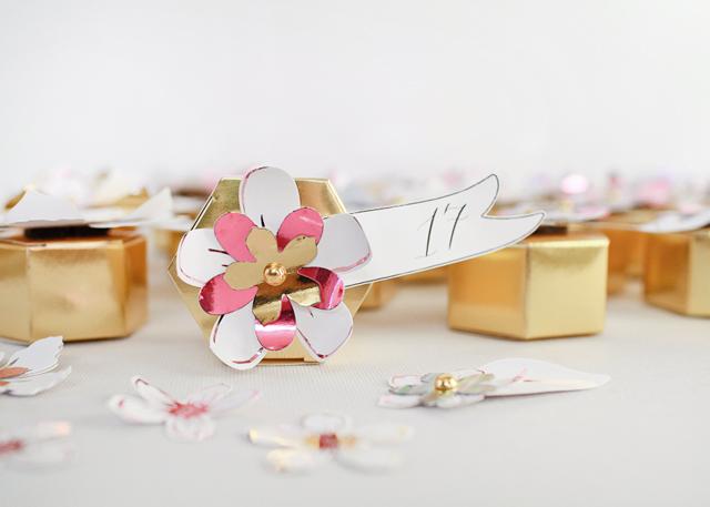 DIY Paper Flower Advent Calendar / Oh So Beautiful Paper