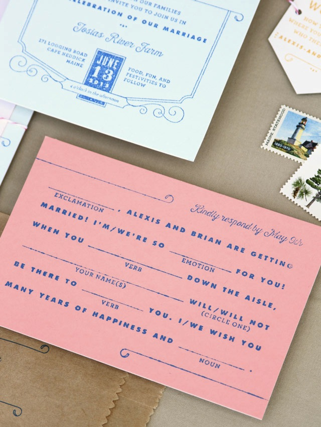 Moonrise Kingdom-Inspired Wedding Invitations by Anticipate Invitations / Oh So Beautiful Paper