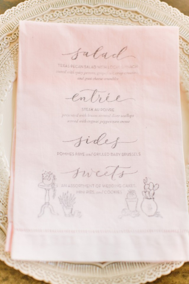 Elegant Dip Dyed Pink and Gold Wedding Invitations by Allie Ruth Bridal / Oh So Beautiful Paper