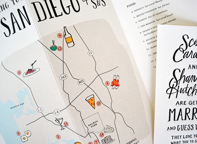 Hand Lettered San Diego Wedding Invitations By Odd Daughter Paper Co. / Oh  So Beautiful