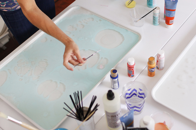 How to Make Marbled Paper / May Designs via Oh So Beautiful Paper