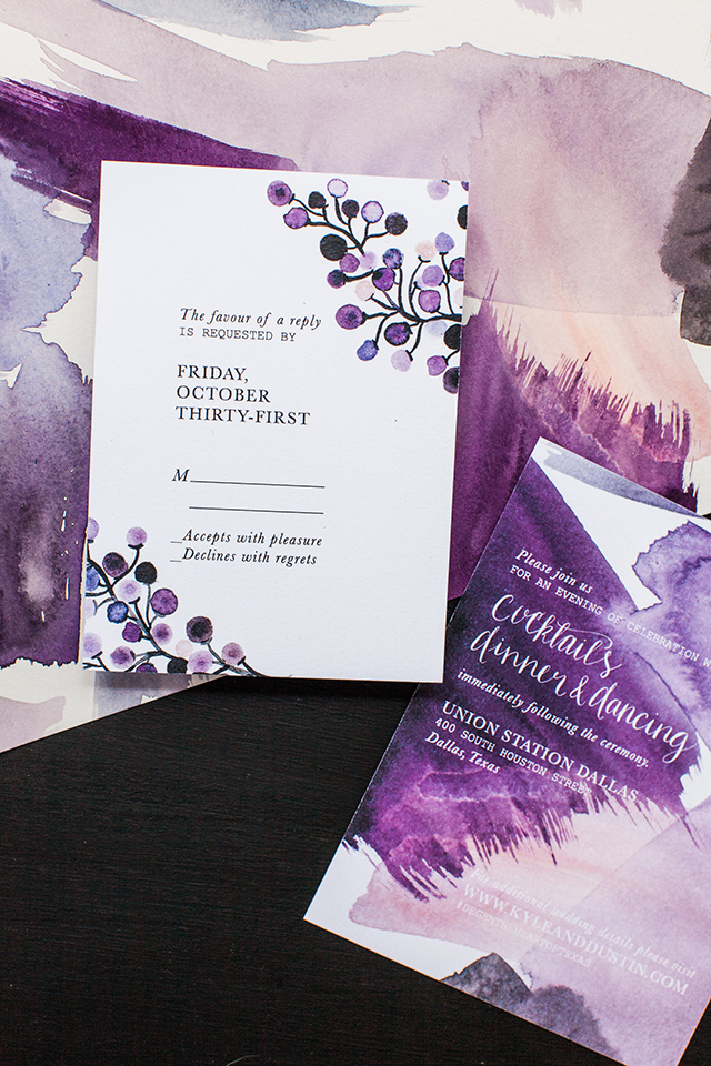 the art of opposites watercolor wedding invitations