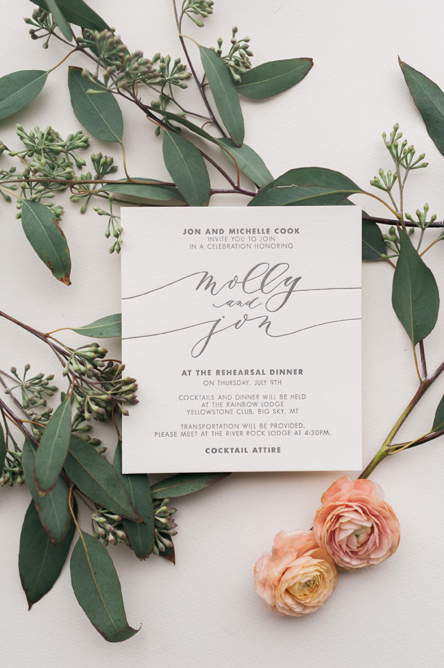 Big Sky Montana Calligraphy Wedding Invitations by Cast Calligraphy / Oh So Beautiful Paper
