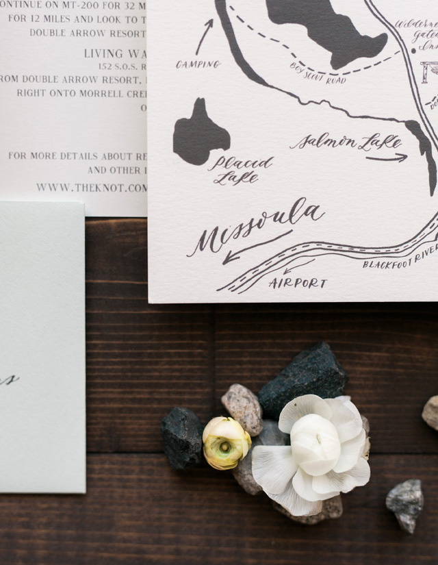 Nature Themed Wedding Invitations Montana Nature Inspired Calligraphy Wedding Invitations