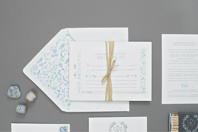 Spring Botanical Letterpress Wedding Invitations by Suite Paperie / Oh So Beautiful Paper
