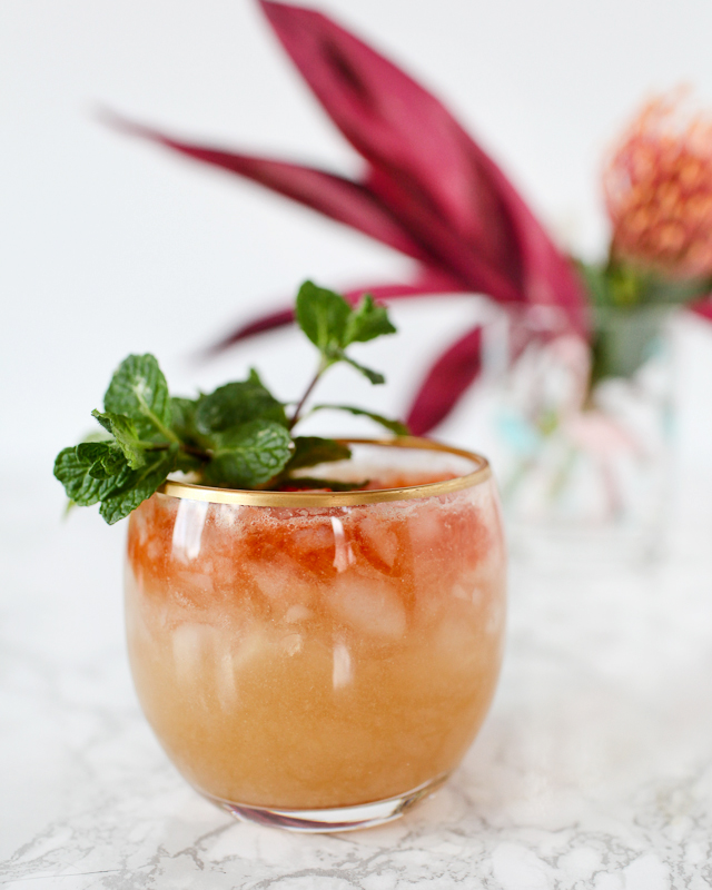 Pineapple-Coconut Rum Barrel Cocktail Recipe / Liquorary for Oh So Beautiful Paper