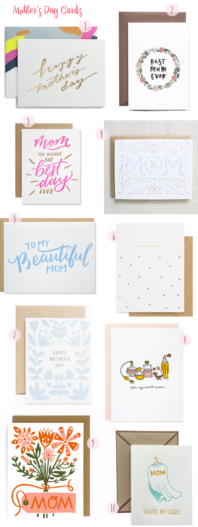 2016 Mother's Day Card Round Up / Oh So Beautiful Paper