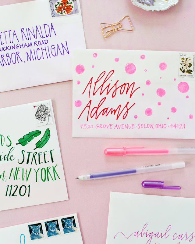 Diy colorful envelope address ideas diy colorful envelope address ideas with sakura of america glaze and souffl pens oh so thecheapjerseys Gallery