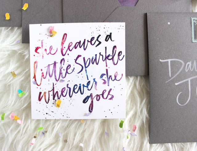 Galaxy-Inspired Graduation Announcements by Ash Bush Lettering and Design / Oh So Beautiful Paper