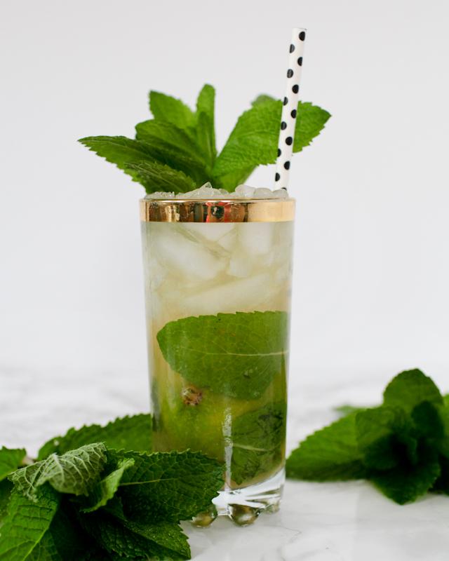 Bourbon Mojito Cocktail Recipe / Liquorary for Oh So Beautiful Paper