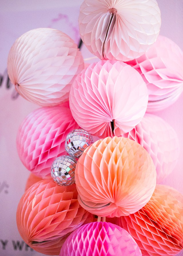 Paper Party 2016 / Pastel Iridescent Rainbow Disco Party Inspiration / Sara Wight Photography for Oh So Beautiful Paper